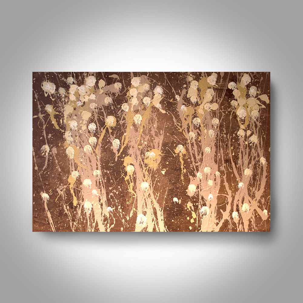 Acrylic Abstract Painting 36 X 24 Brown Painting Canvas Painting