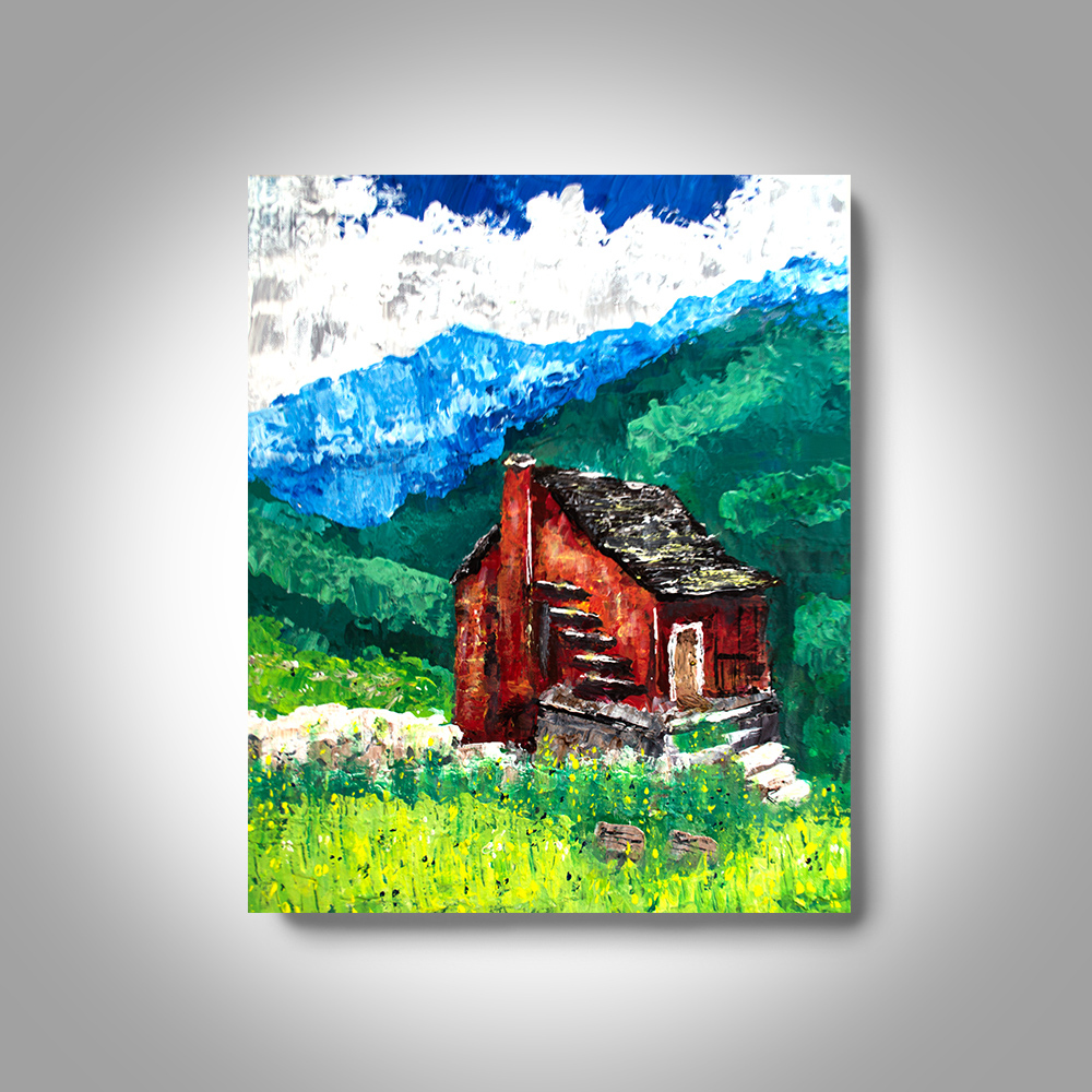 Acrylic Landscape Painting 20 X16 Canvas Painting View In